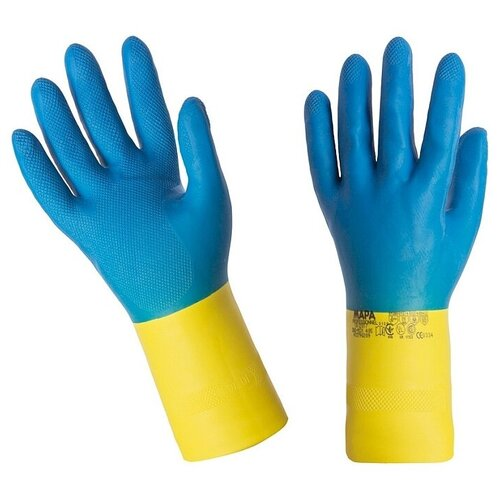 Перчатки MAPA Professional Alto 405 9 (L) 1 пара синий/желтый