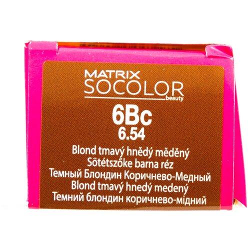 Купить Matrix Socolor Beauty стойкая крем-краска для волос, 6Bc темный блондин коричнево-медный, 90 мл
