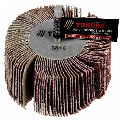 Шлифовальная насадка TUNDRA 1875473 P80 80 мм