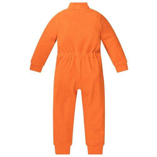 Комбинезон детский, флисовый,286г(ш), Утенок, размер 56(рост 104 см) оранжевый