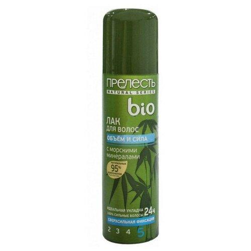 Прелесть Professional Лак для волос Bio Объем и сила, экстрасильная фиксация, 160 мл прелесть professional лак для волос классик с экстрактом женьшеня экстрасильная фиксация 200 мл
