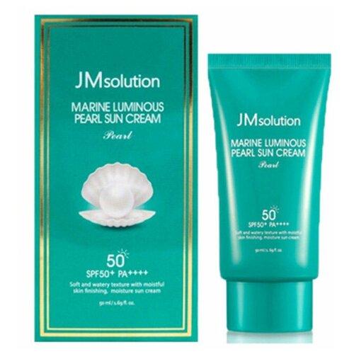 Солнцезащитный крем с жемчужной пудрой SPF 50+PA++++ JMsolution Marine Luminous Pearl Sun Cream 50 мл. jmsolution крем water luminous hand cream good morning для рук утренний 50 мл