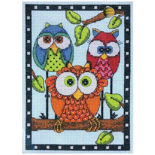 Фото - Dimensions Набор для вышивания Трио сов 12.7 x 17.7 см (70-65159) набор для вышивания dimensions 03896 уютное укрытие46 x 23 см
