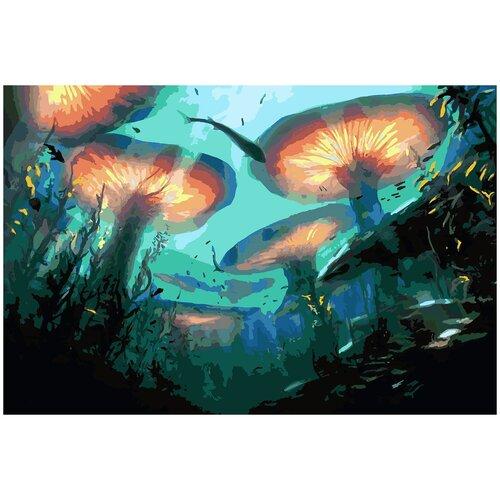 Картина по номерам Подводный мир фэнтези, 70 х 80 см, Красиво Красим, Картины по номерам и контурам  - купить со скидкой