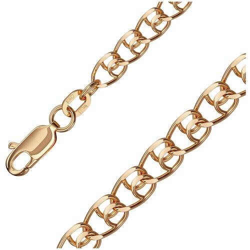 КРАСЦВЕТМЕТ Цепь из золота плетения LOVE НЦ12-087ПГ, 55 см, 4.9 г