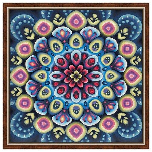 Купить Алмазная мозаика Мандала успеха, картина стразами Алмазная живопись 40x40 см., Алмазная вышивка