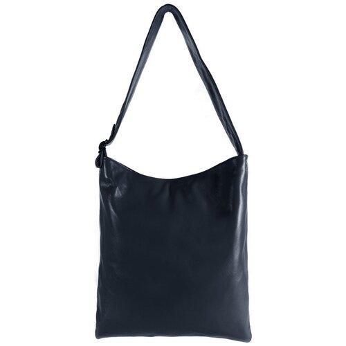 Сумка/Сумка женская/Сумка женская натуральная кожа/MAYGER/А-СВ-893/синий/модель мешок/карман для ноутбука