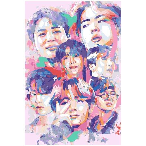 Купить Картина по номерам BTS Арт 2, 40 х 60 см, Красиво Красим, Картины по номерам и контурам