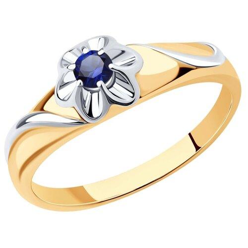 Diamant Кольцо из серебра с родированием с корундом 93-310-00982-1, размер 19.5