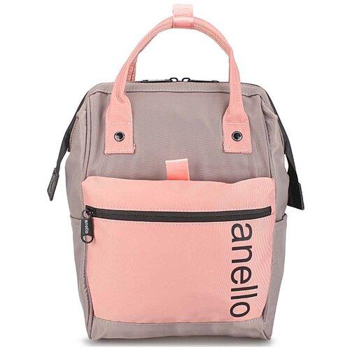 Сумка-рюкзак «Anello Middle» 333 Grey/Pink