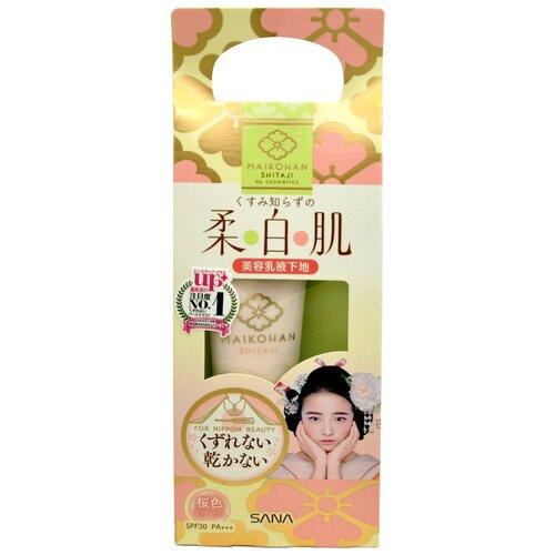 Купить SANA Основа под макияж Maikohan Shitaji увлажняющая 25 мл розовая