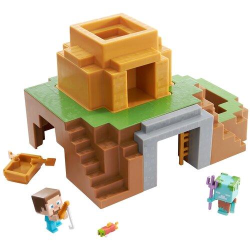 Купить Игровой набор Mattel Minecraft Трансформирующийся оазис GYR75, Игровые наборы и фигурки