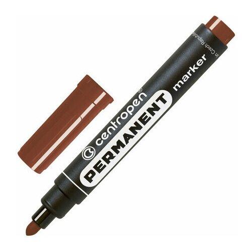 Купить Маркер перманентный CENTROPEN 8566, коричневый, круглый наконечник, 2, 5 мм, 5 8566 0111, 5 шт., Маркеры