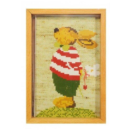 Купить Набор для вышивания в рамке 205-EF Мальчик Зайчик, Белоснежка, Наборы для вышивания