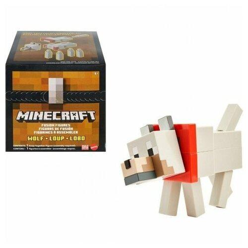 Купить Фигурка Minecraft Волк сборная большая Mattel GVV16, Игровые наборы и фигурки