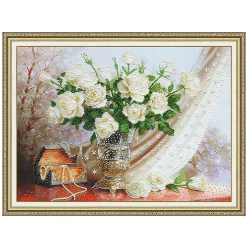 Вышивка бисером РТ-099 Белые розы