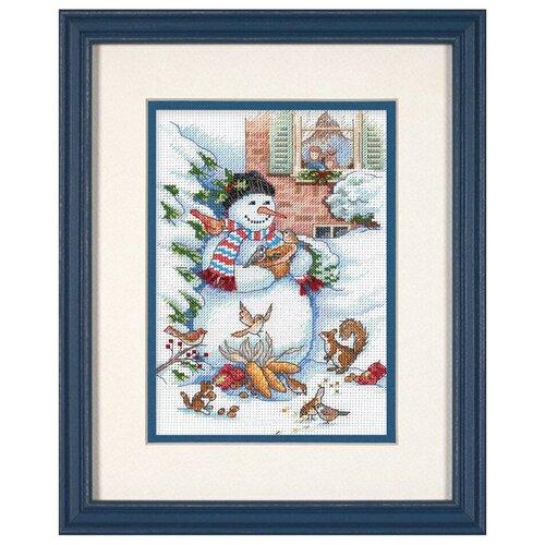Фото - Набор для вышивания DIMENSIONS 08801 Снеговик и друзья13 x 18 см набор для вышивания dimensions 03896 уютное укрытие46 x 23 см