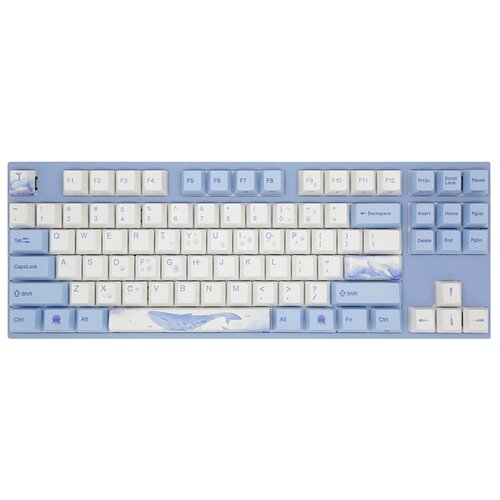 Клавиатура Varmilo VA87M Sea Melody Cherry MX Brown белый/голубой