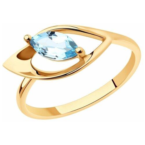 Diamant Кольцо из золота с топазом 51-310-01019-1, размер 17 diamant кольцо из золота с топазом 51 310 00971 1 размер 17