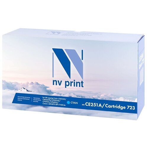 Фото - Картридж NV Print CE251A/723C для HP LJ Color CM3530/CP3525 совместимый; Canon i-SENSYS LBP7750Cdn (голубой) {42828} картридж nv print ce250x черный для hp color lj cm3530 cp3525dn