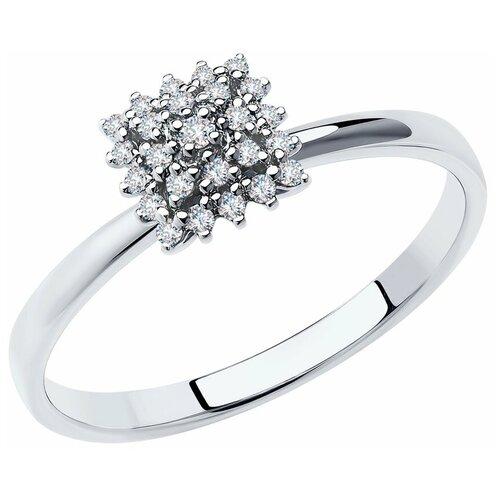 SOKOLOV Кольцо из белого золота с бриллиантами 1012016, размер 17.5