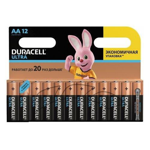Фото - Батарейки комплект 12 шт., DURACELL Ultra Power, AA (LR06, 15А), алкалиновые, пальчиковые, блистер, 1 шт. батарейки pkcell aa пальчиковые 12 шт уп