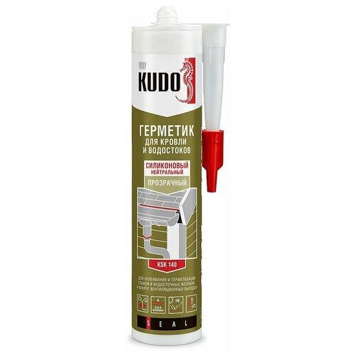 Фото - Герметик силикон. KSK-140 для кровли 280 МЛ прозрачный (12) KUDO герметик силиконовый kudo ksk 121 санитарный белый 280 мл