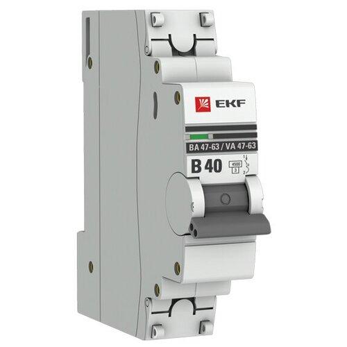 Фото - Автоматический выключатель EKF ВА 47-63 1P (B) 4,5kA 40 А автоматический выключатель ekf ва 47 63 1p b 6ka 50 а