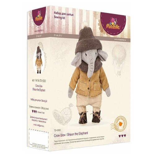 Miadolla Набор для изготовления игрушки Слон Шон (TD-0300)