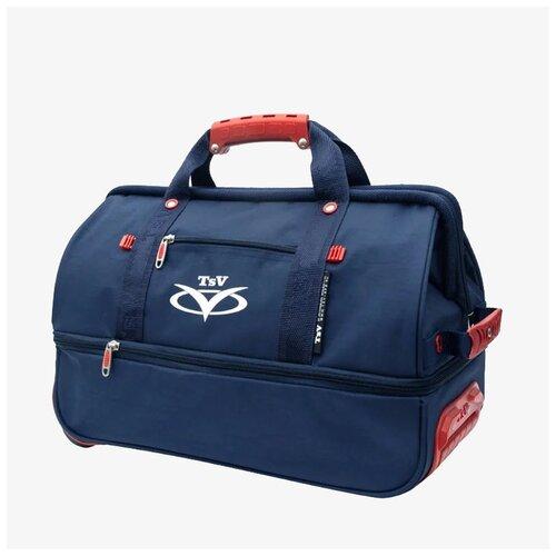 Дорожная сумка-саквояж TsV 514.32 синяя с колёсами