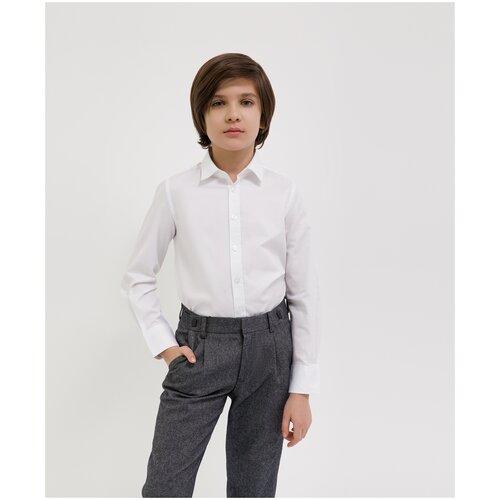 Сорочка белая с длинным рукавом Gulliver для мальчиков, цвет белый, размер 164, модель 200GSBC2304