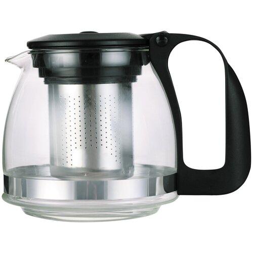 Чайник заварочный Appetite 0,7 л с фильтром черный