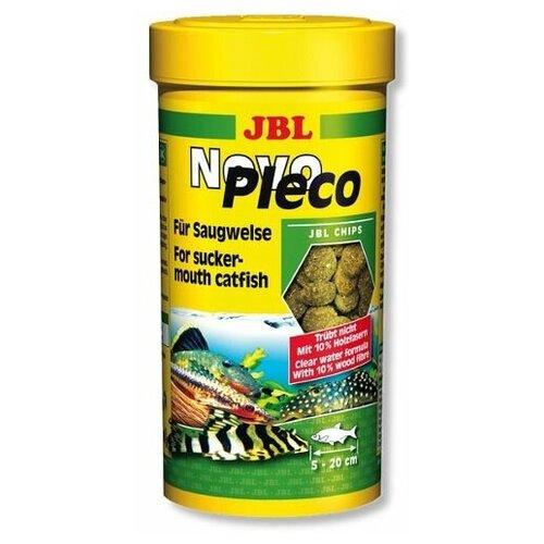 Фото - Корм для рыб JBL JBL NovoPleco Водорослевые чипсы с примесью целлюлозы для кольчужных сомов, 250мл сухой корм для рыб jbl novopleco 53 г