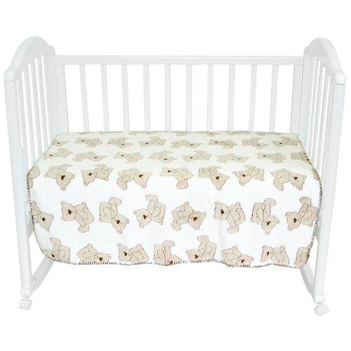 Фото - Плед-покрывало Baby Nice VELSOFT 3D Мишки на белом, 150х200 плед покрывало baby nice velsoft 3d птичка 150х200 бирюзовый