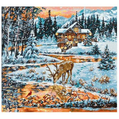 Фото - BU4022 Набор для вышивания 'Хижина в лесу' 43,5*40см, Luca-S bu4022 набор для вышивания хижина в лесу 43 5 40см luca s