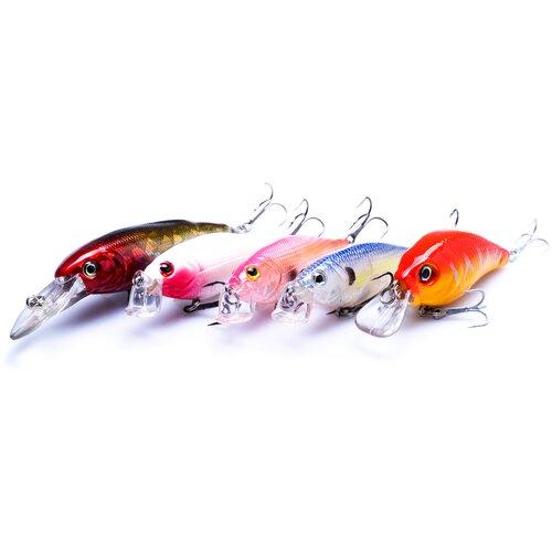 Приманки для рыбалки, 5 шт, воблеры для рыбалки, набор приманок, все для рыбалки, товары для рыбалки