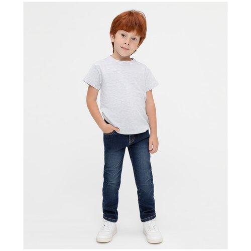 Джинсы Button Blue размер 116, синий джинсы fendi размер 116 синий