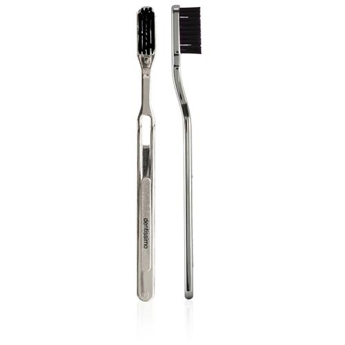 Зубная щетка Дентиссимо Chromed Handle Black Hard недорого