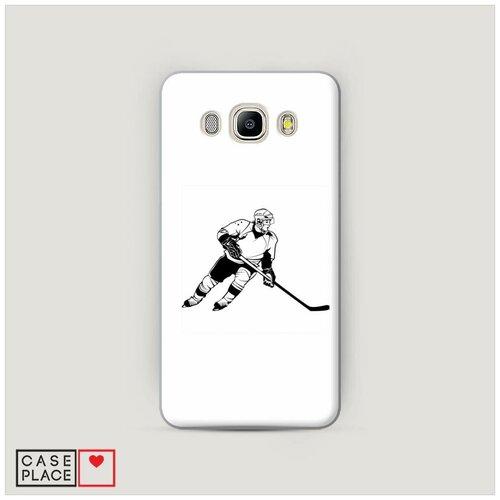 Чехол Пластиковый Samsung Galaxy J7 2016 Хобби хоккей