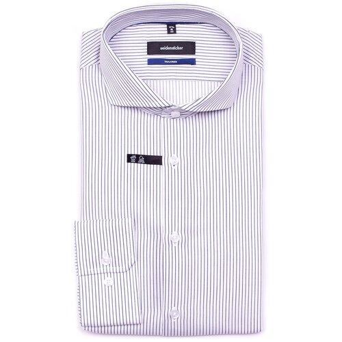 Рубашка Seidensticker Tailored fit размер 44 белый/синий