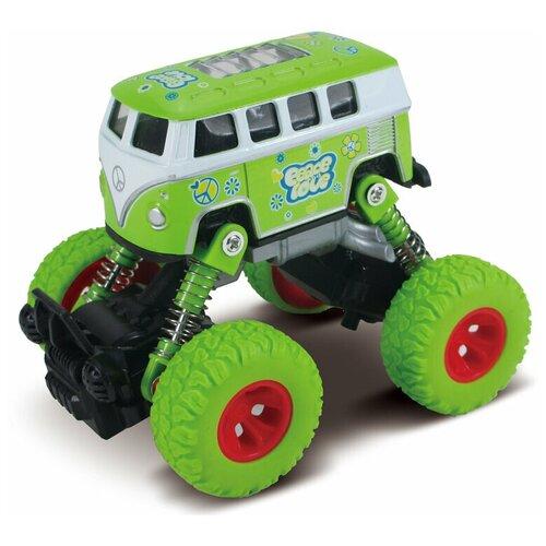 Автобус die-cast, инерционный механизм, рессоры, зеленый, 1:46 Funky toys FT61077