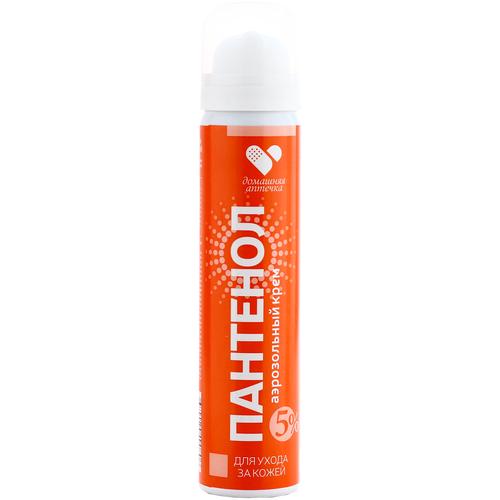 Купить Пантенол аэрозольный крем для ухода за кожей, 90 мл, Домашняя аптечка