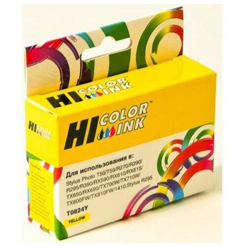 Картридж Hi-Black (HB-T0824) для Epson Stylus R270/295/390/RX590/T50, Y