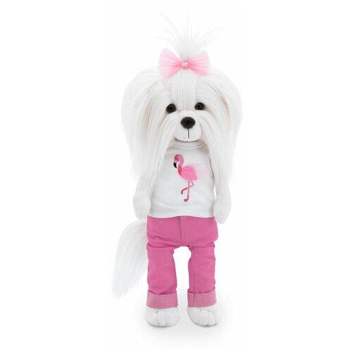 Мягкая игрушка Lucky Doggy (Лаки Доги) MIMI Цвет настроение Фламинго с каркасом 36см