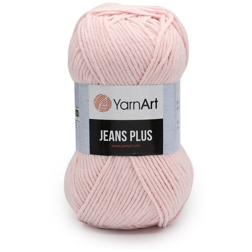 Пряжа YarnArt 'Jeans Plus' 100гр 160м (55% хлопок, 45% полиакрил) (74 св. розовый) 5 шт пряжа yarnart пряжа yarnart jeans plus цвет 53 черный