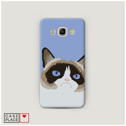 Чехол Пластиковый Samsung Galaxy J5 2016 Мем грустный кот