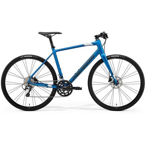 Велосипед Merida Speeder 300 SilkBlue/DarkSilver 20 скоростей рама SM (52 см) 77979 велосипед merida speeder 80 2019