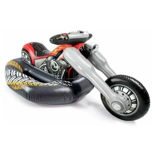 Фото - Надувная игрушка-наездник 183х79х71см Мотоцикл до 100кг, от 3 лет игрушка наездник надувная intex черепаха с ручками intex 191х170 от 3 лет 57555