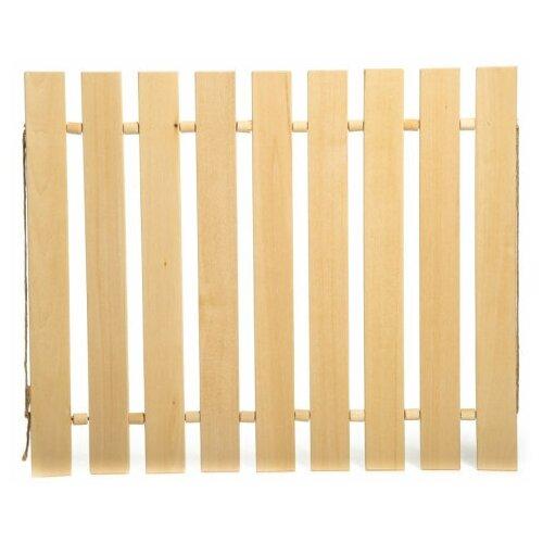 Коврик для бани Доктор Баня, 35х47 / коврик для бани и сауны / коврик для бани деревянный
