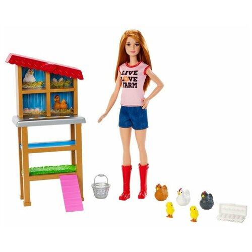 Набор игровой Barbie Кем быть? Куриный фермер, 29 см, FXP15